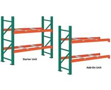 PALLET RACK STARTER AND ADD-ON UNITS